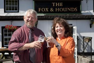 Keltek-Brewery-MD-Stu-Heath-with-Landlady-at-recently-acquired-Fox-Hounds-at-Scorrier-300x203 Keltek Brewery Invests